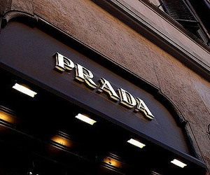 store, fashion, and Prada image