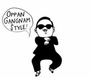 gangnam style, psy, and funny image