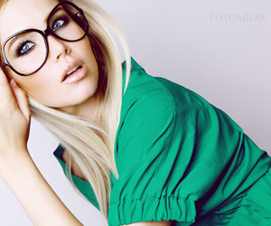 glasses and blonde image