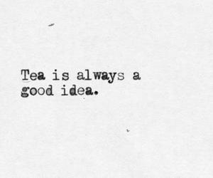 tea, text, and quote image