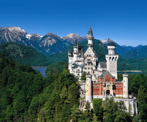 castle, germany, and neuschwanstein image