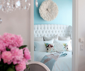 flowers, home, and bedroom image