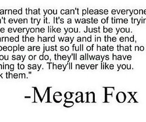 be yourself, meaning, and megan fox image