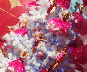 barbie, pink, and christmas image