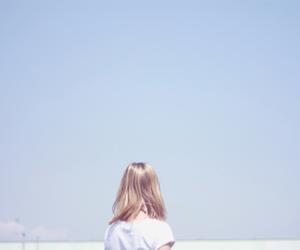girl, pastel, and sky image