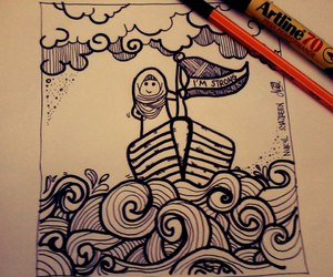 doodles, ocean, and wave image