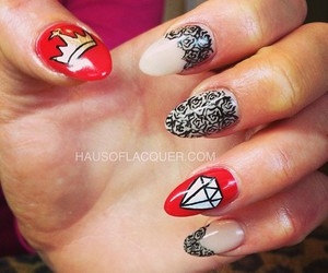 crown, hands, and long nails image