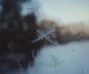 snow, window, and winter image
