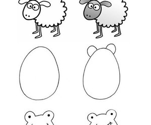 draw, drawing, and animals image