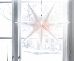christmas, star, and white image