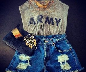 fashion, outfit, and army image