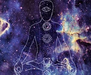 universe, chakras, and meditation image