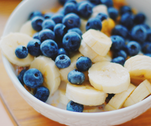 banana, blueberry, and food image