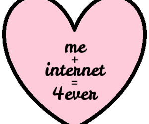 internet, heart, and love image
