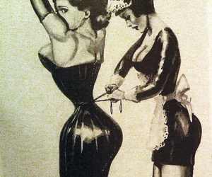 corset, vintage, and black and white image