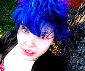 blue hair, bright, and colored hair image