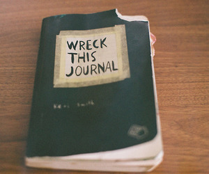 journal, wreck this journal, and art image