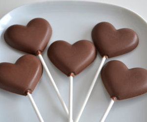 chocolate, food, and heart image