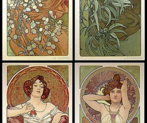 alfons mucha, art, and vintage image