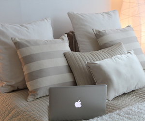 apple, bed, and pillow image