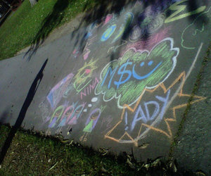 awh, chalk, and girls image