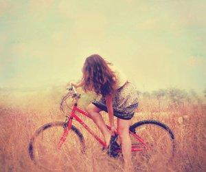 bike, hair, and cycle image