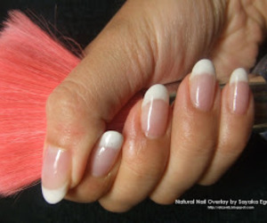french manicure and oval nails image