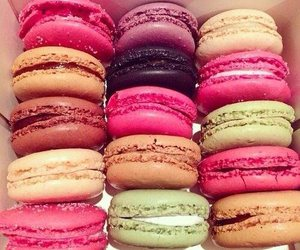 macaroons, delicious, and food image