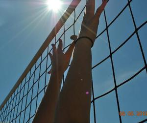 beach, hands, and net image