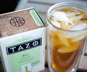 tea, tazo, and drink image