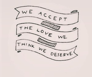 love, quote, and the perks of being a wallflower image