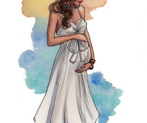 pregnant, baby, and drawing image
