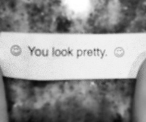 black and white, fortune, and fortune cookie image