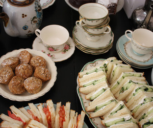 food, tea, and tea party image