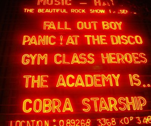 Gym Class Heroes, cobra starship, and fall out boy image