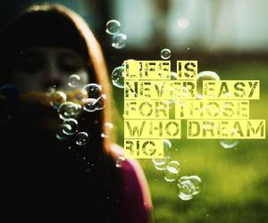 bubbles, typography, and Dream image
