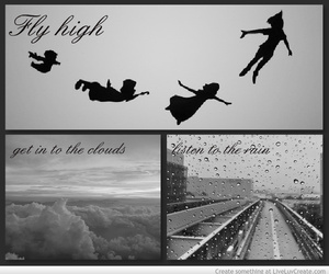 clouds, dreams, and fly image