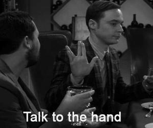 funny, sheldon, and hand image