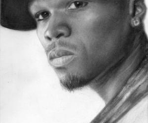 50, 50 cent, and drawing image