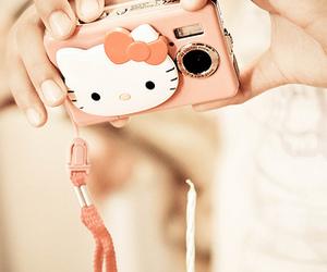 camera, chocolate, and hello kitty image