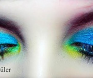 colorful, eyes, and make image