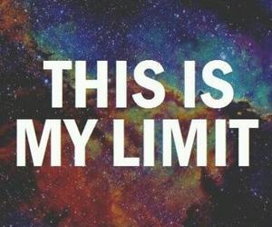 limit, galaxy, and quote image