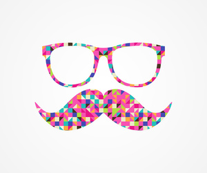 colors, mostacho, and cool image