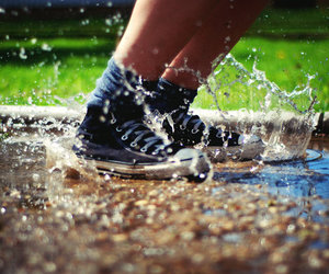 converse, splash, and water image