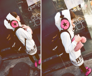 girl, headphones, and asian image