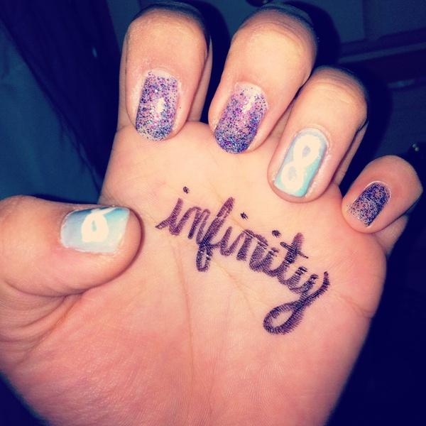 Infinity nails | Pinterest uploaded by Jacky ✞