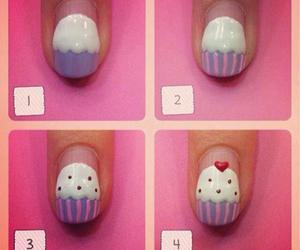 nails, cupcake, and diy image