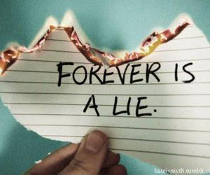 forever, lies, and quote image
