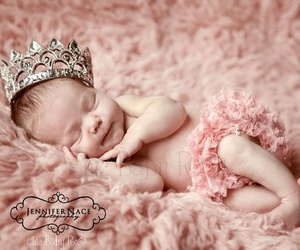 pink, baby, and crown image