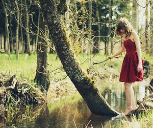 girl, dress, and nature image